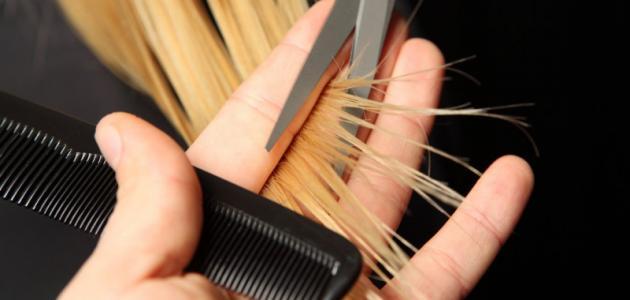 أسباب تقصف الشعر من الأمام