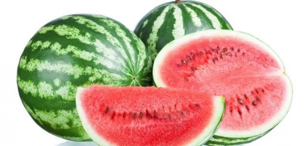 عدد السعرات الحرارية في البطيخ