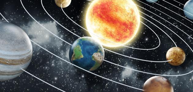 حجم الأرض بالنسبة للشمس