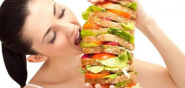 أسباب الجوع السريع