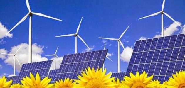 استغلال الطاقة الشمسية وطاقة الرياح