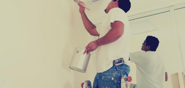 طريقة طلاء الجدران بنفسك