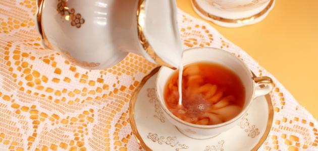 طريقة عمل شاي بالحليب