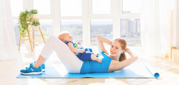 كيفية إزالة الكرش بعد الولادة القيصرية