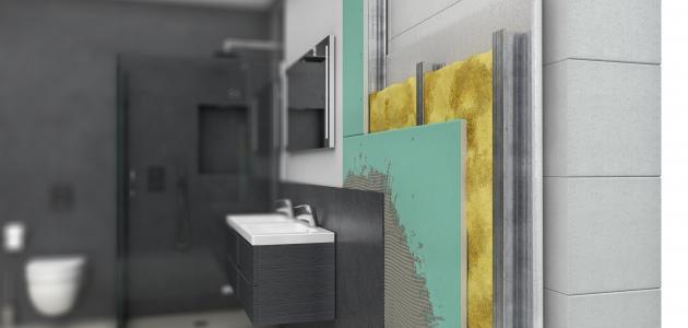 طريقة عزل الحمامات