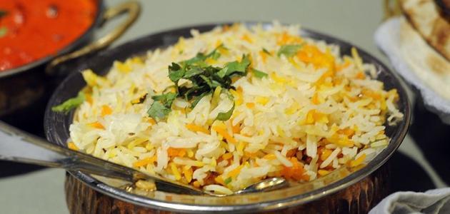 طريقة أرز البرياني السادة