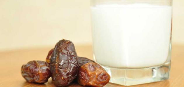 فوائد الحليب مع التمر