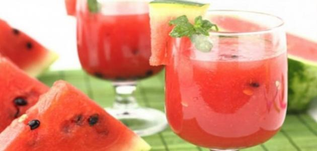 فوائد عصير البطيخ الأحمر
