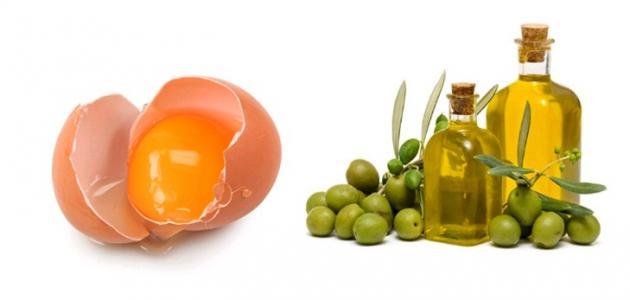 خلطة البيض وزيت الزيتون للشعر