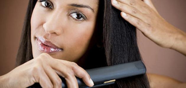 كيفية استخدام مكواة الشعر