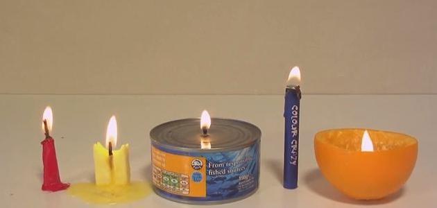 كيفية صنع شمعة