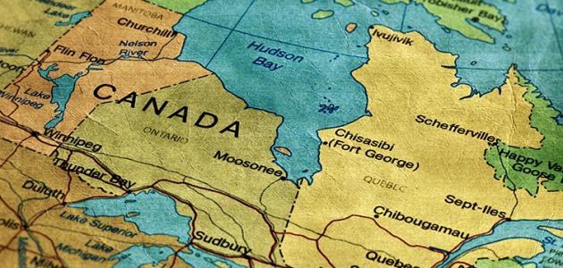 أين تقع كندا موضوع