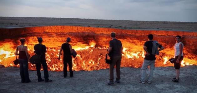 حفرة الجحيم في تركمانستان