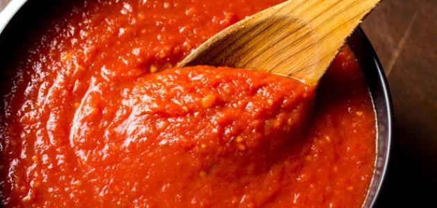 عمل صلصة الطماطم