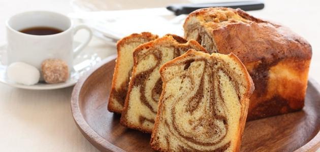 طريقة الكيكة الرخامية