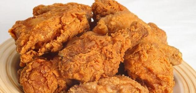 طريقة قلي الدجاج المقرمش