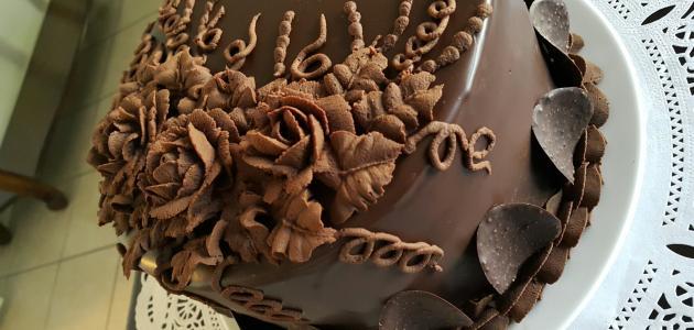 عمل تورتة الشوكولاتة