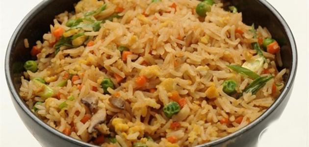 طريقة الأرز الصيني بالخضار