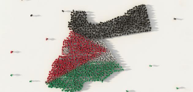 مساحة الأردن وعدد سكانها