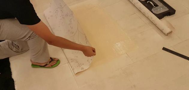كيفية تركيب ورق الحائط