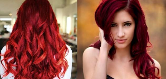 طريقة سحب لون الشعر الأحمر موضوع