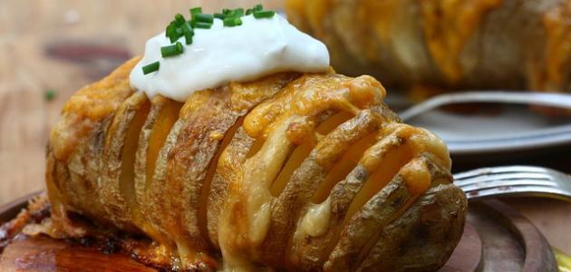 طريقة البطاطس بالفرن مع الجبن