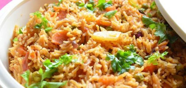 طريقة الأرز المقلي