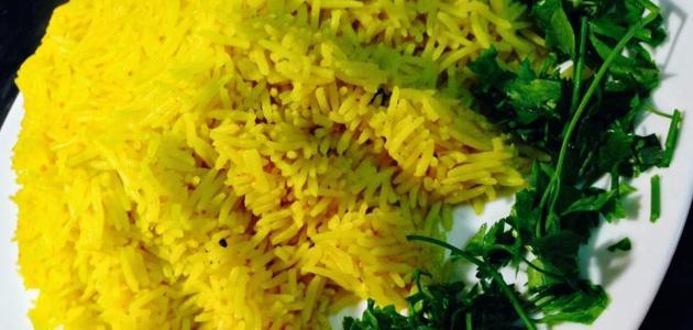طريقة الأرز بالكركم