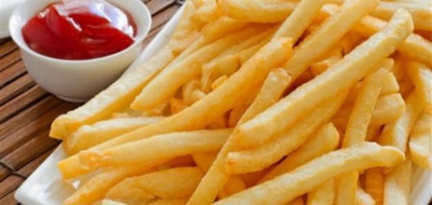 طريقة البطاطس المقلية