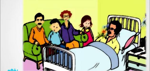 موضوع عن زيارة المريض موضوع