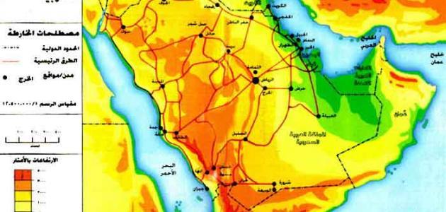 شبه جزيرة العرب موضوع