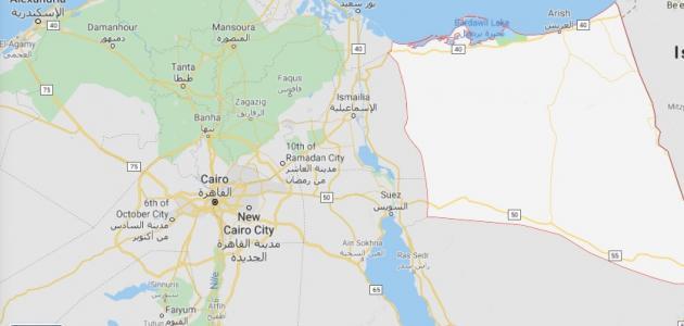 موقع محافظة شمال سيناء
