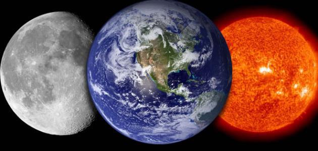 خصائص الشمس والقمر