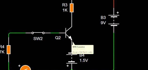 استخدام الترانزستور كمفتاح