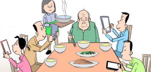 وسائل الاتصال الحديثة وتأثيرها على الأسرة - موضوع