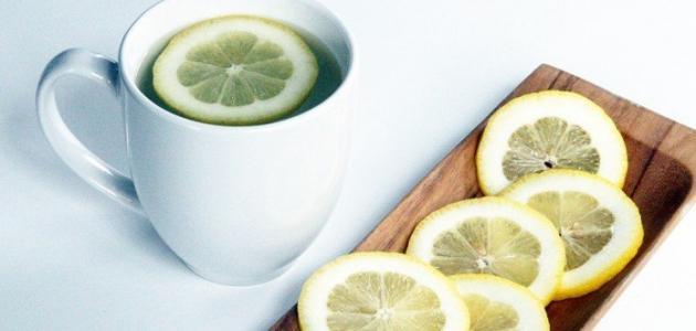 فوائد الليمون مع الماء الساخن