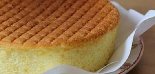 عمل طريقة الكيكة الإسفنجية