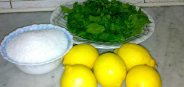 كيف تصنع عصير الليمون بالنعناع