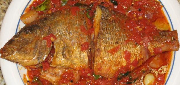 طريقة عمل السمك بالصلصة الحمراء