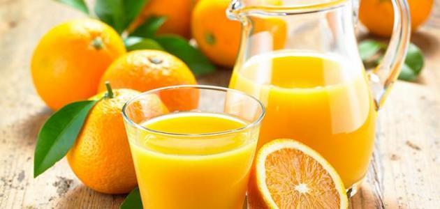 فوائد شرب عصير البرتقال على الريق