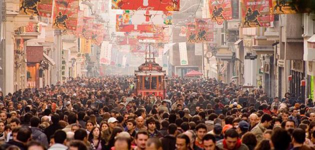 عدد السكان في تركيا