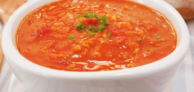 طريقة عدس الطماطم