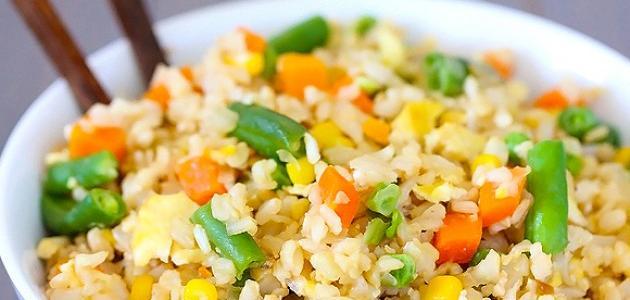 عمل الأرز بالخضار