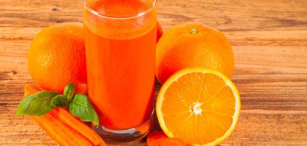طريقة عصير الجزر والبرتقال