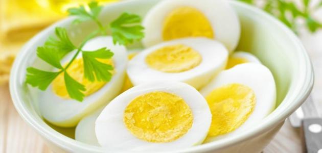 كيف تعمل بيضاً مسلوقاً