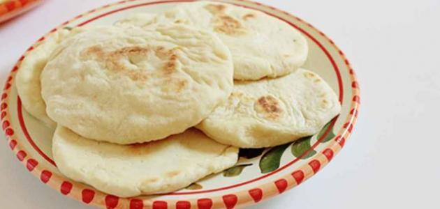 طريقة عمل خبز الصاج بدون خميرة