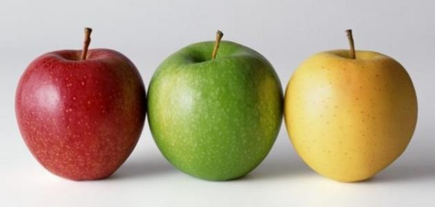 ما الفيتامين الموجود في التفاح