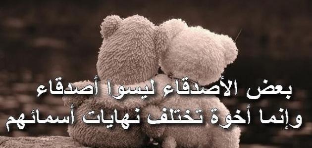 كلمات عن الأصدقاء