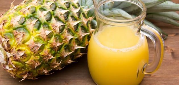 متى يشرب عصير الأناناس للحامل