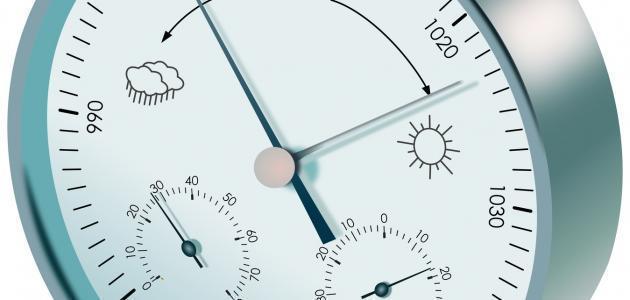 كيفية قياس الضغط الجوي